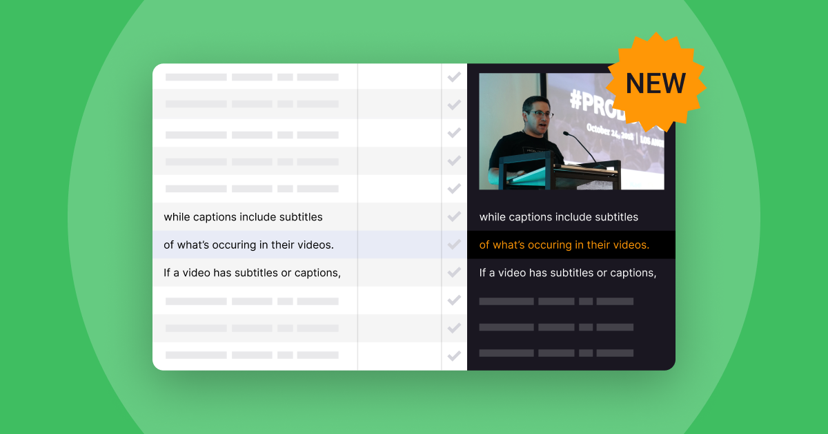 Translating video subtitles with preview: Never lose precious context again